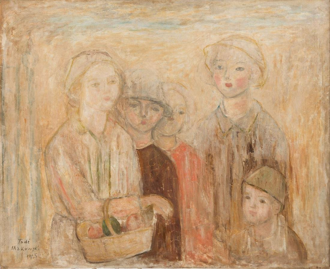 Tadeusz Makowski (1882 - 1932) Group of Children with a
