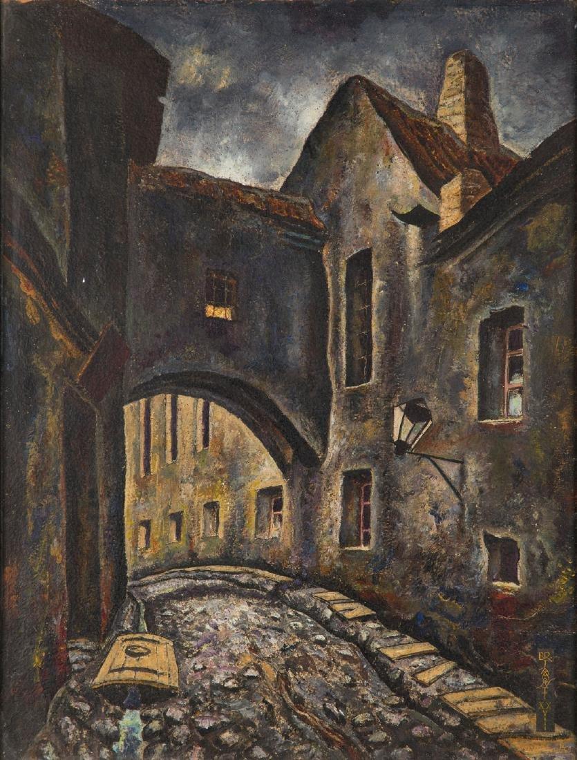 Bronislaw Jamontt (1886 - 1957) Street in a Jewish