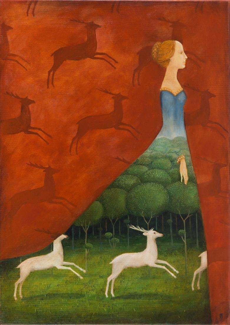 Malwina de Brade (b. 1968), Deer, 2017