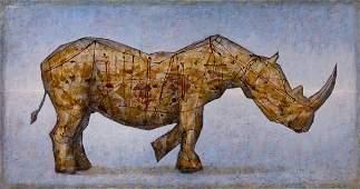 Grzegorz Klimek (b. 1987), Emigration of a rhino, 2017
