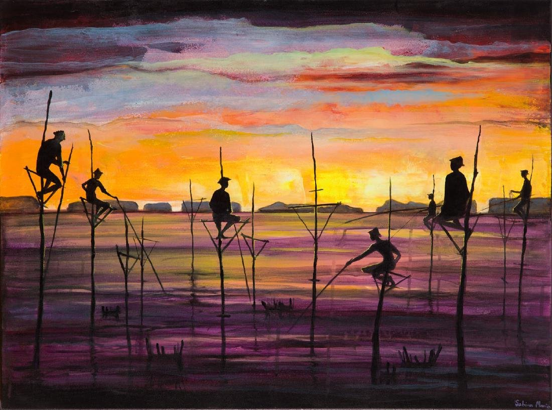Sabina MAria Grzyb (b. 1988), Fishermen from Sri Lanka,