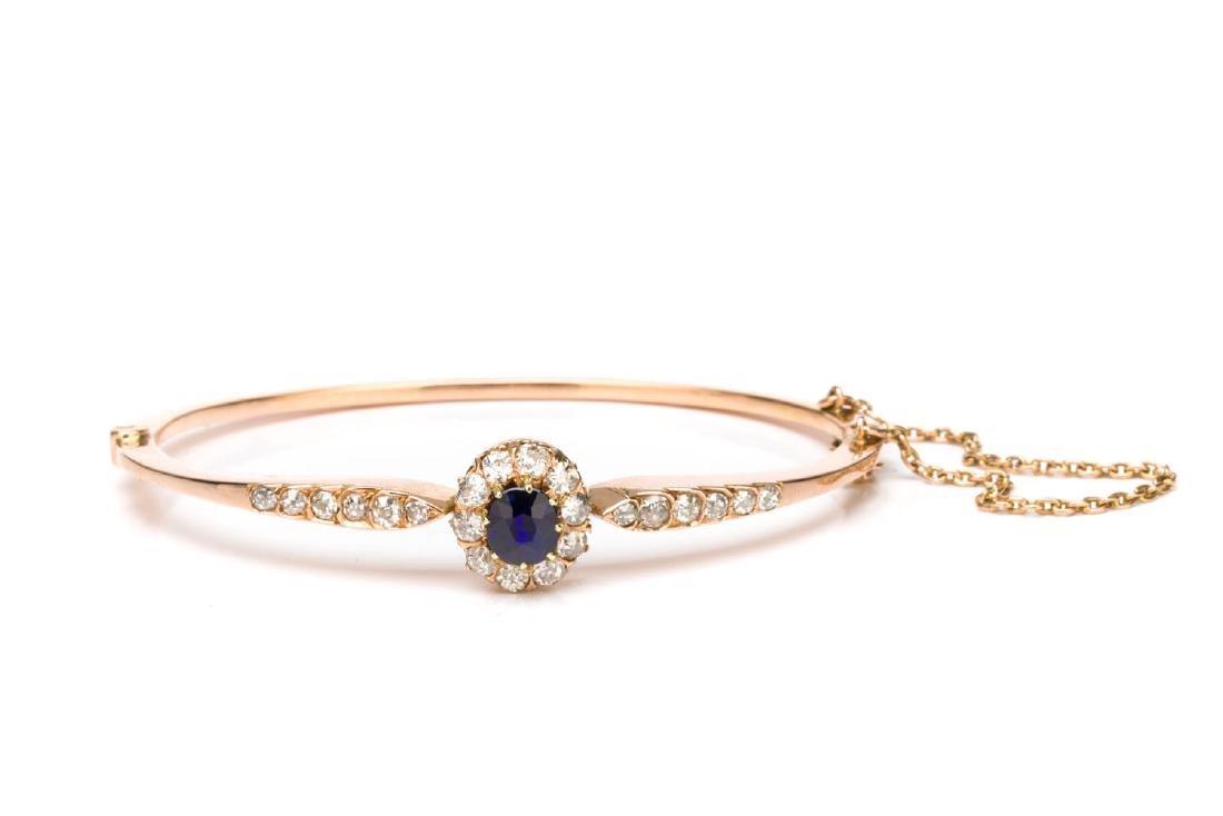 Bracelet with sapphire, Austria, 19th/20th Century