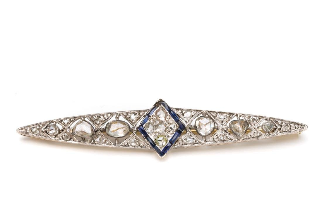 Brooch with rose-cut diamonds, Early 20th Century