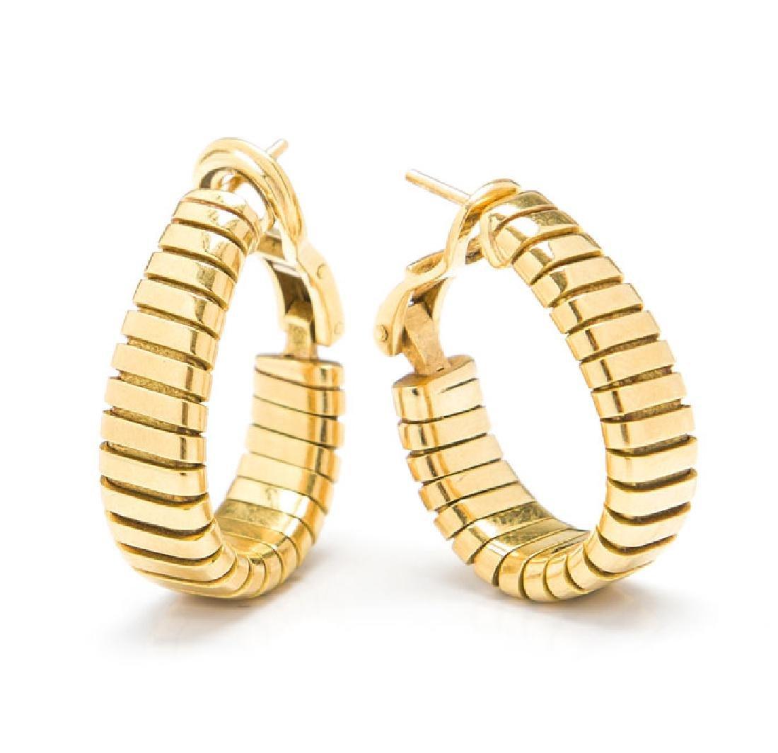 Pair of earrings, Bulgari, Italy, 2nd Half of 20th