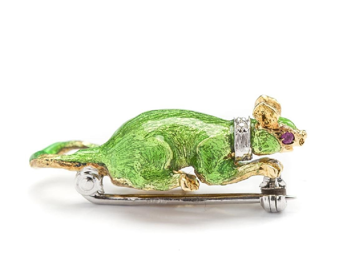 Brooch in the form of a mouse, Mid-20th Century