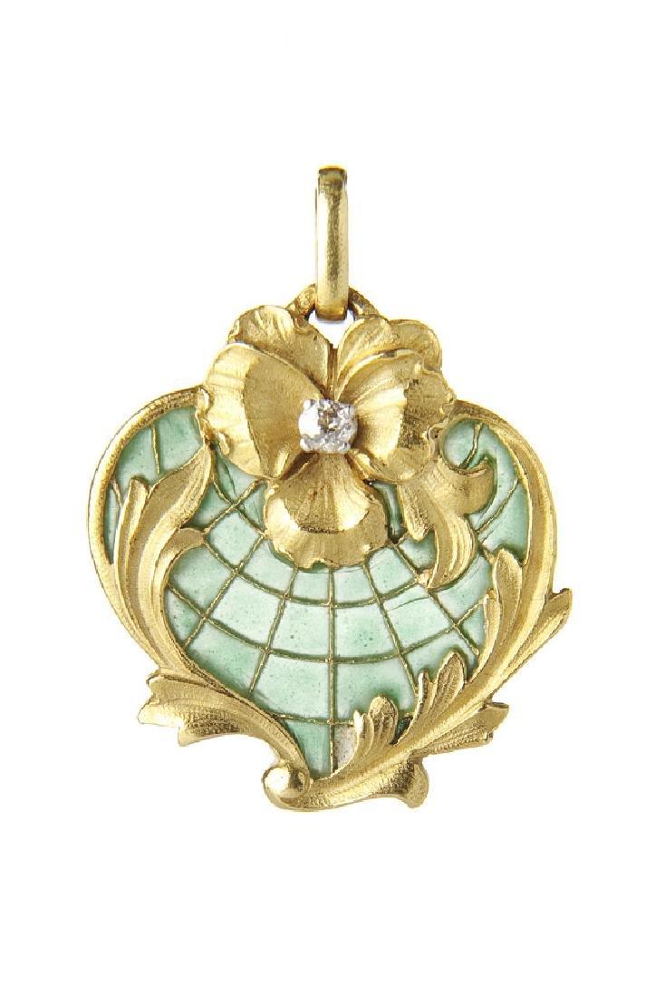 Art Nouveau pendant, 19th/20th Century