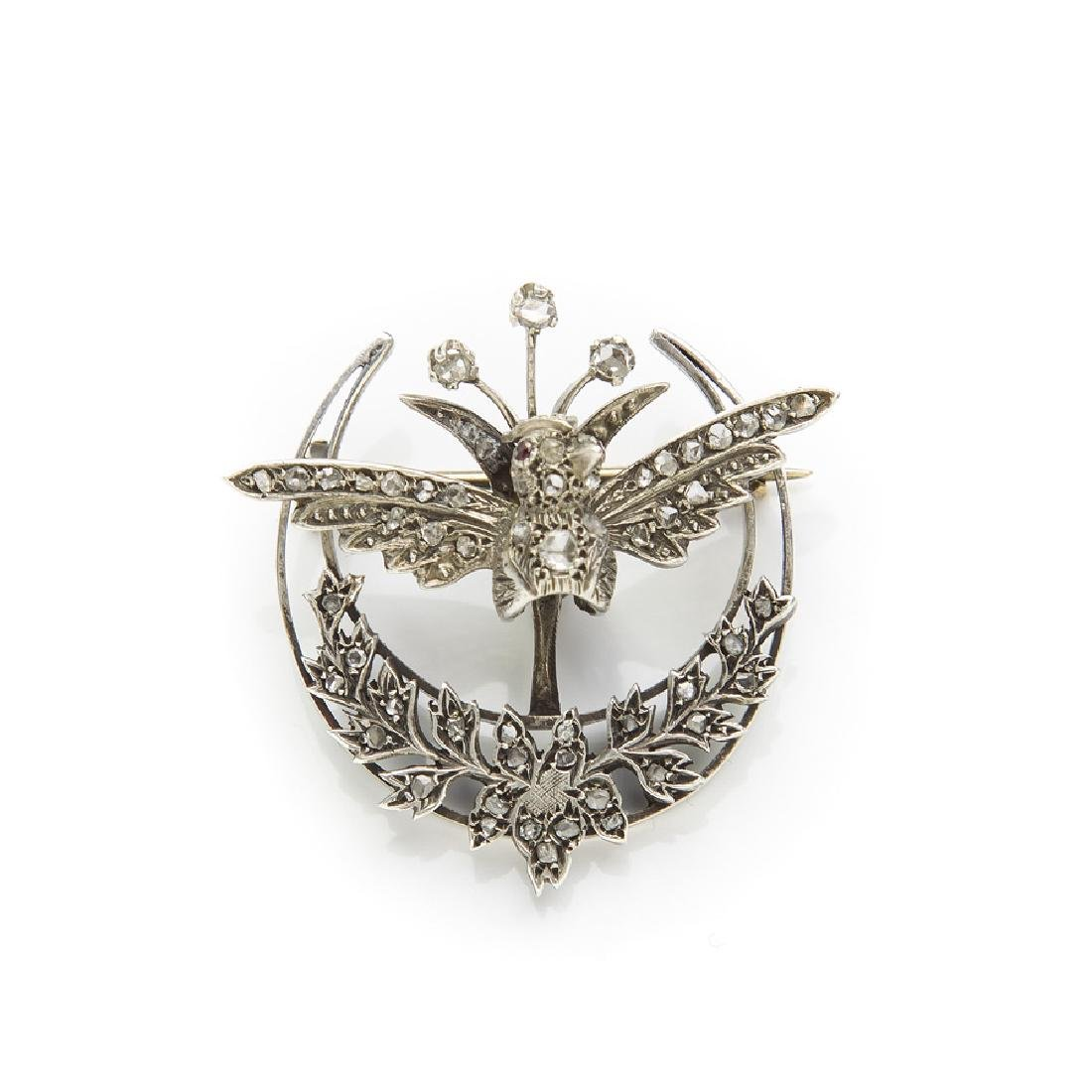 Brooch with bird motif , Mid-19th Century