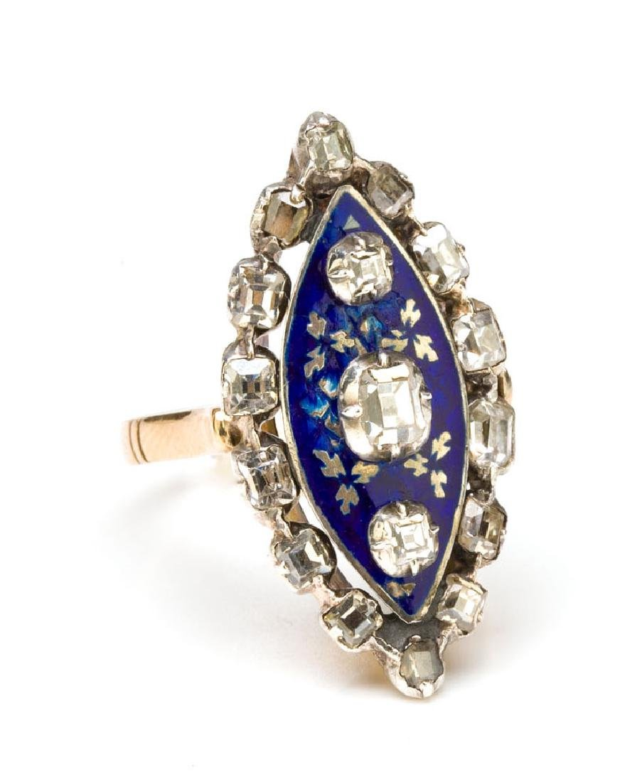Ring with enamel, 18th/19th Century