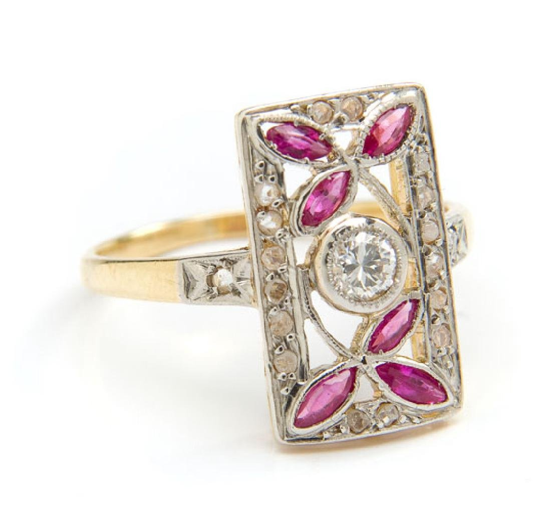 Ring with rubies, 1st Half of 20th Century