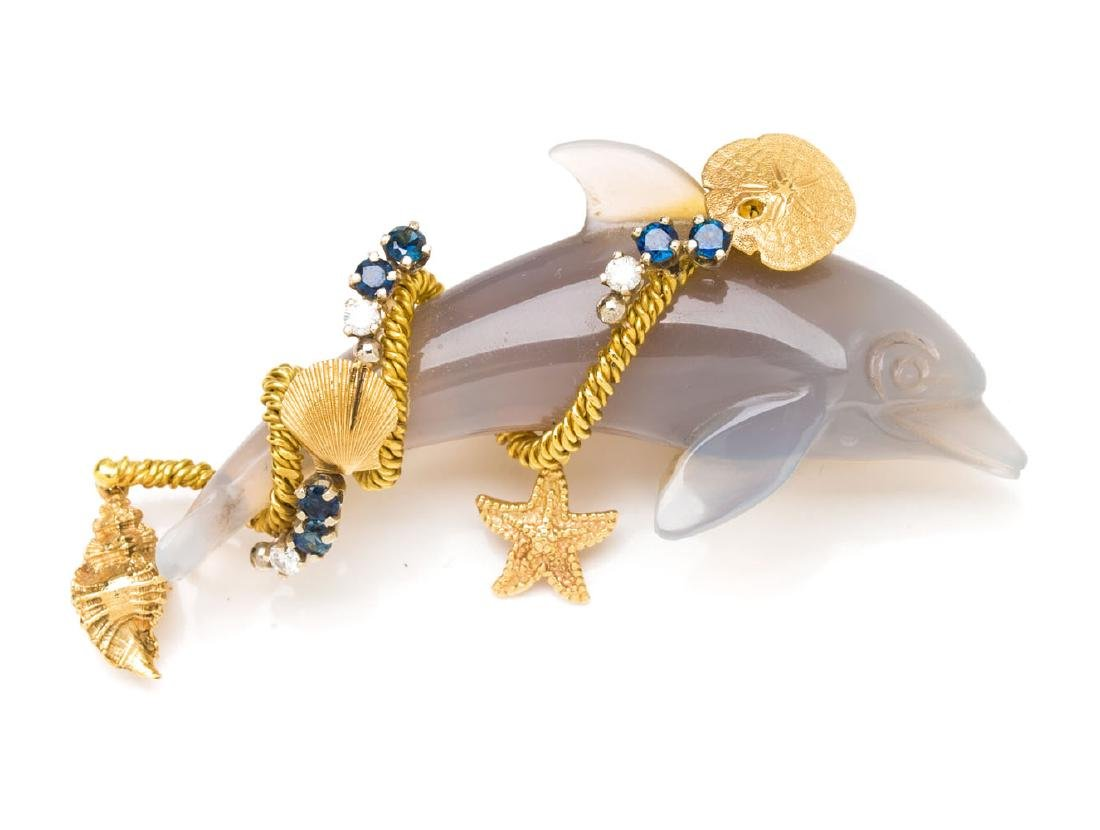 Brooch in the form of a dolphin, Mid-20th Century