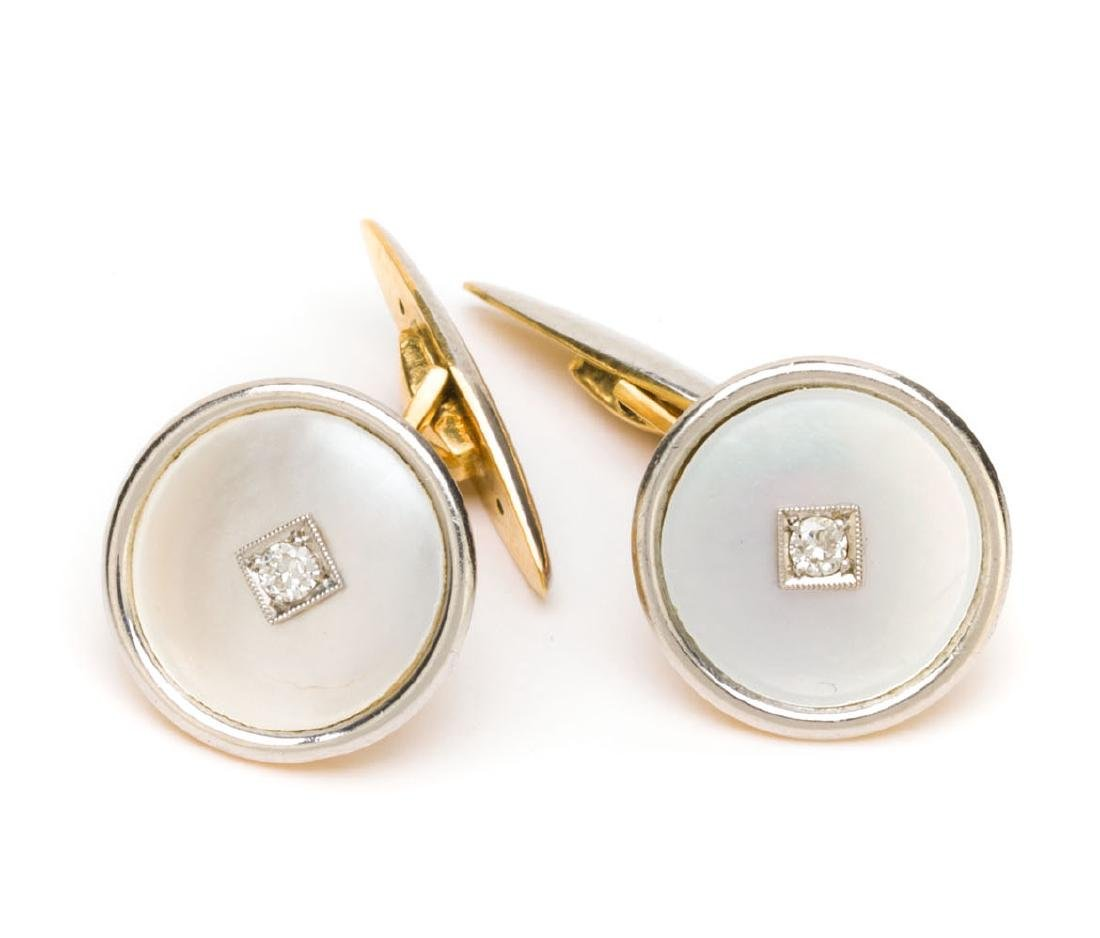 Cufflinks in Edwardian style, Early 20th Century
