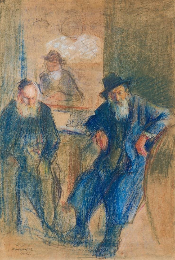 Artur Markowicz (1872 - 1934) Men by the table