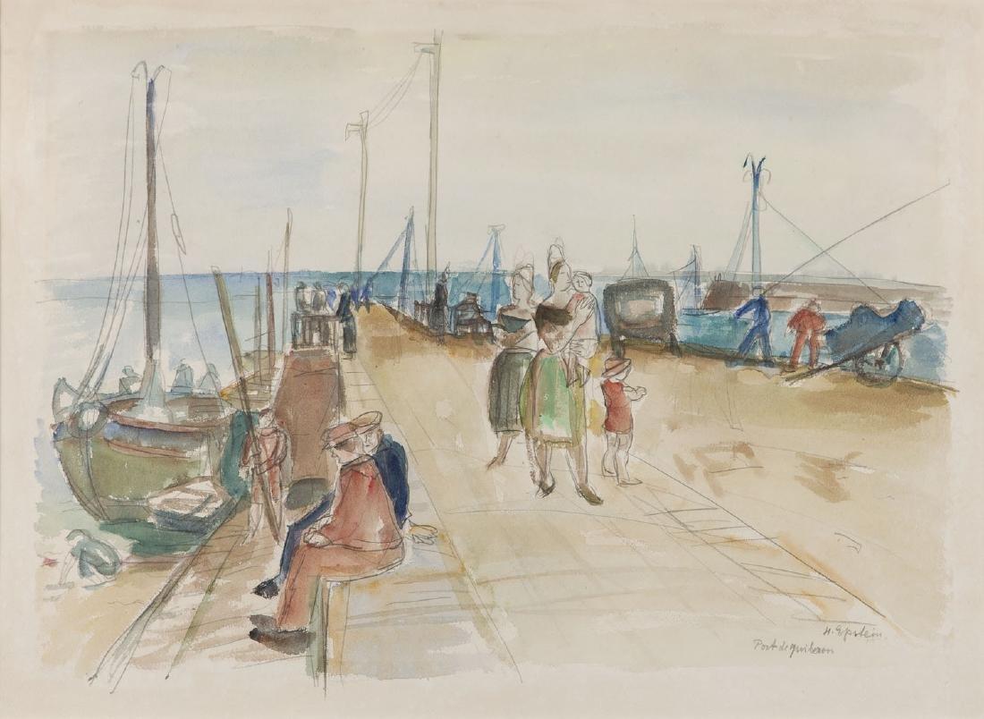 """Henryk Epstein (1891 - 1944) """"Port de Quiberon"""""""