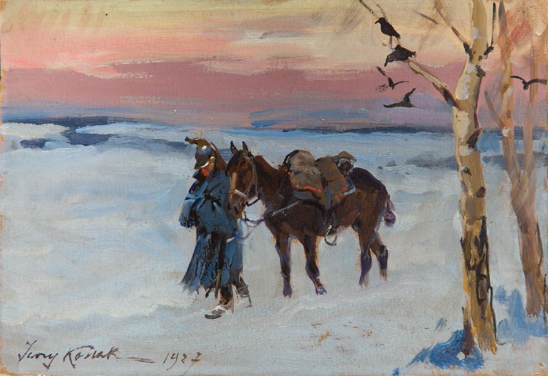 Jerzy Kossak (1886 - 1955) Return from Moscow, 1927
