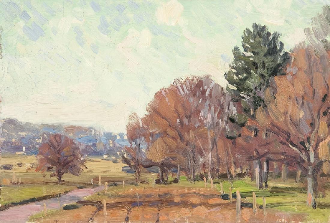 Bazyli Poustochkine (1893 - 1973) Village landscape