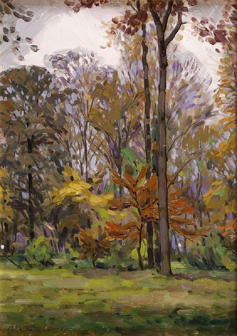 Bazyli Poustochkine (1893 - 1973) Autumn forest