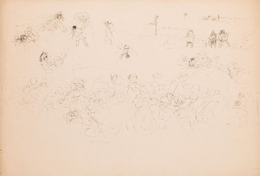 Jacek Malczewski (1854 - 1929) Card with genre scenes