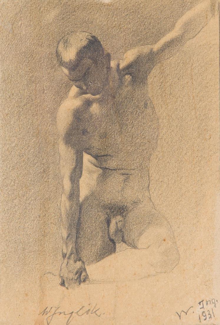 Wiktor Inglik (b. 1894) Male nude, 1931