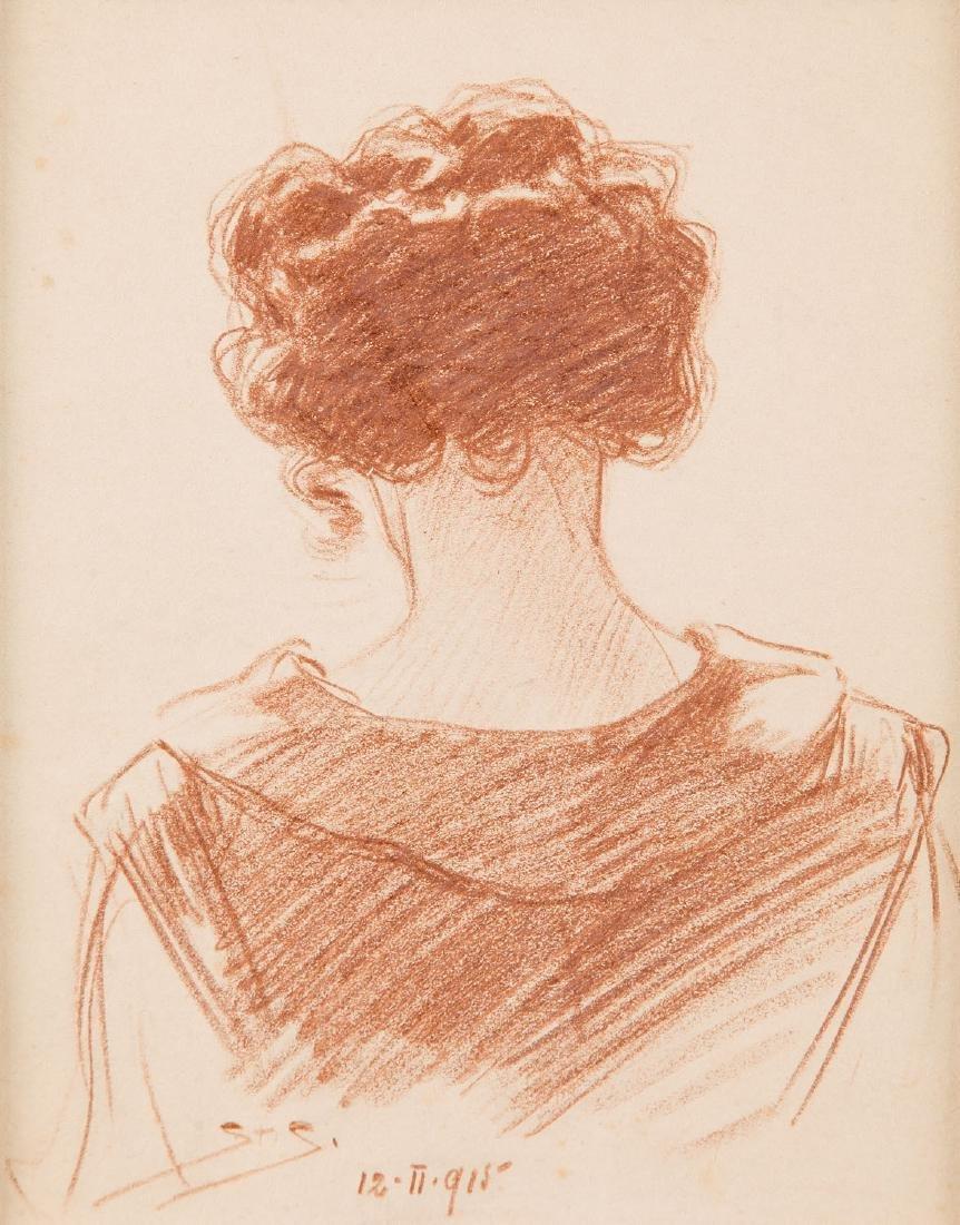 Stanislaw Sawiczewski (1866 - 1943) Study of female