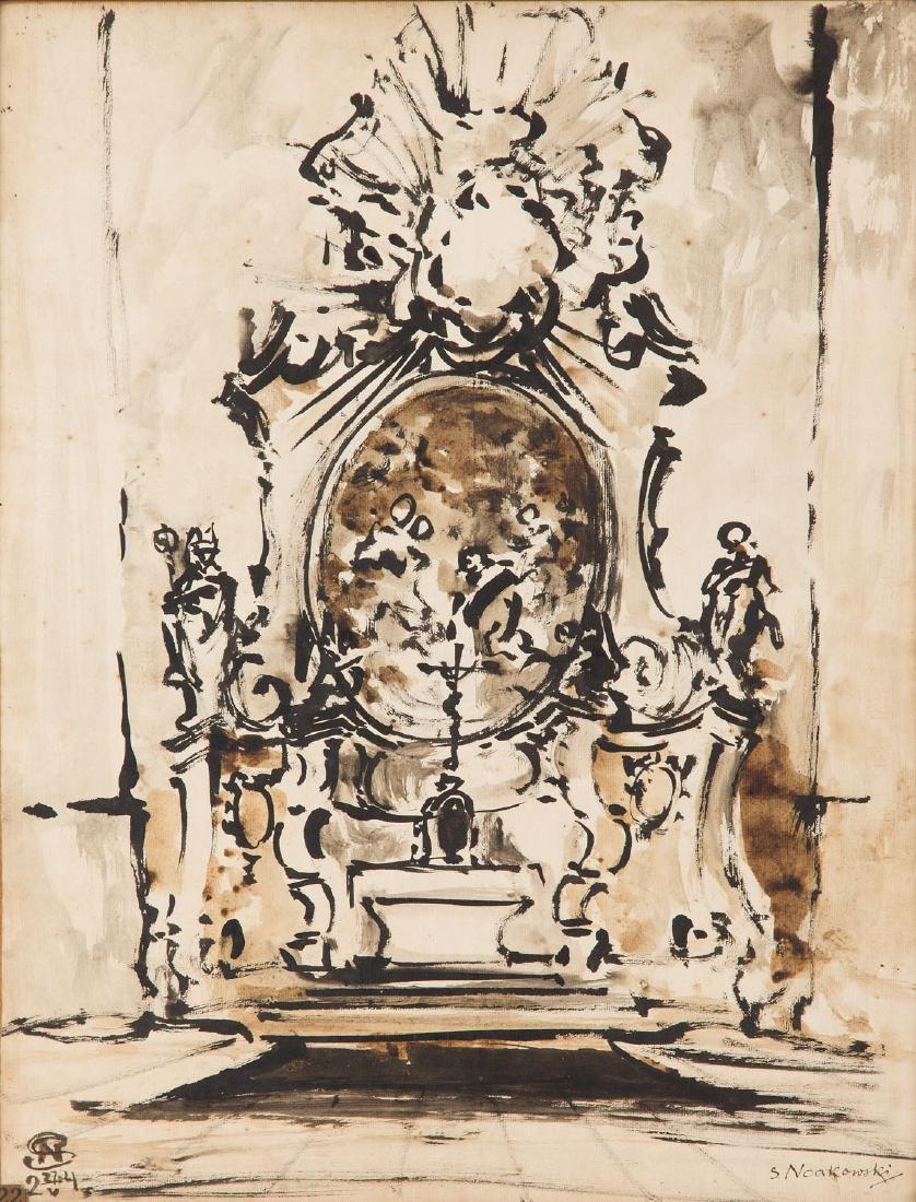 Stanislaw Noakowski (1867 - 1928) Baroque altar with