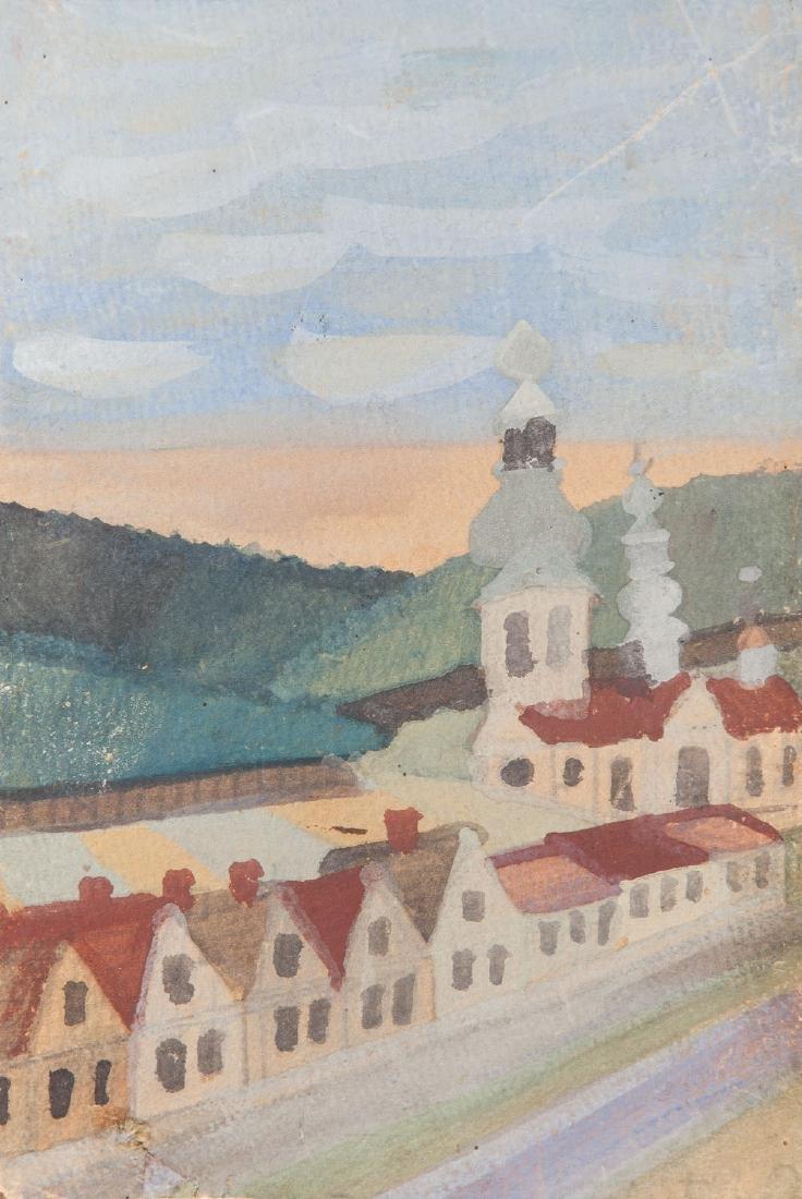 Nikifor Krynicki (1895 - 1968) Cityscape