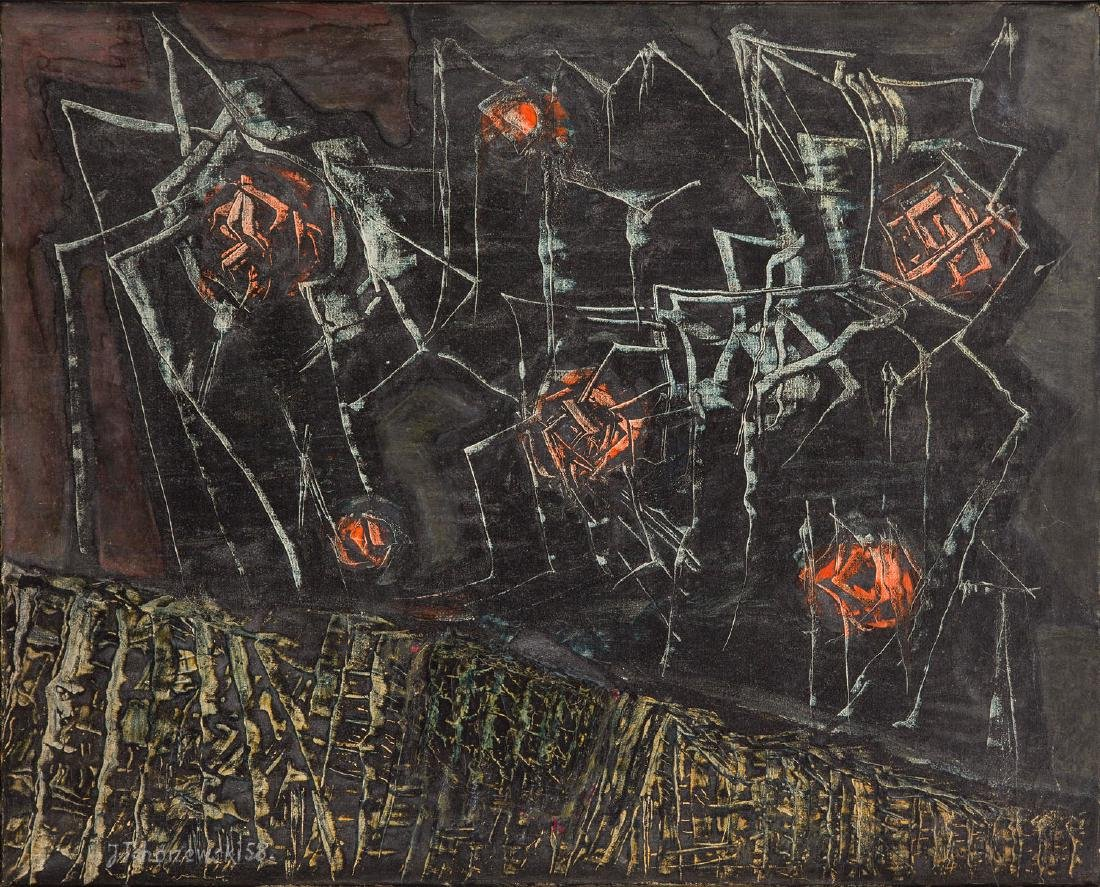 """Jerzy Tchorzewski (1928 - 1999) """"Spider"""", 1958"""