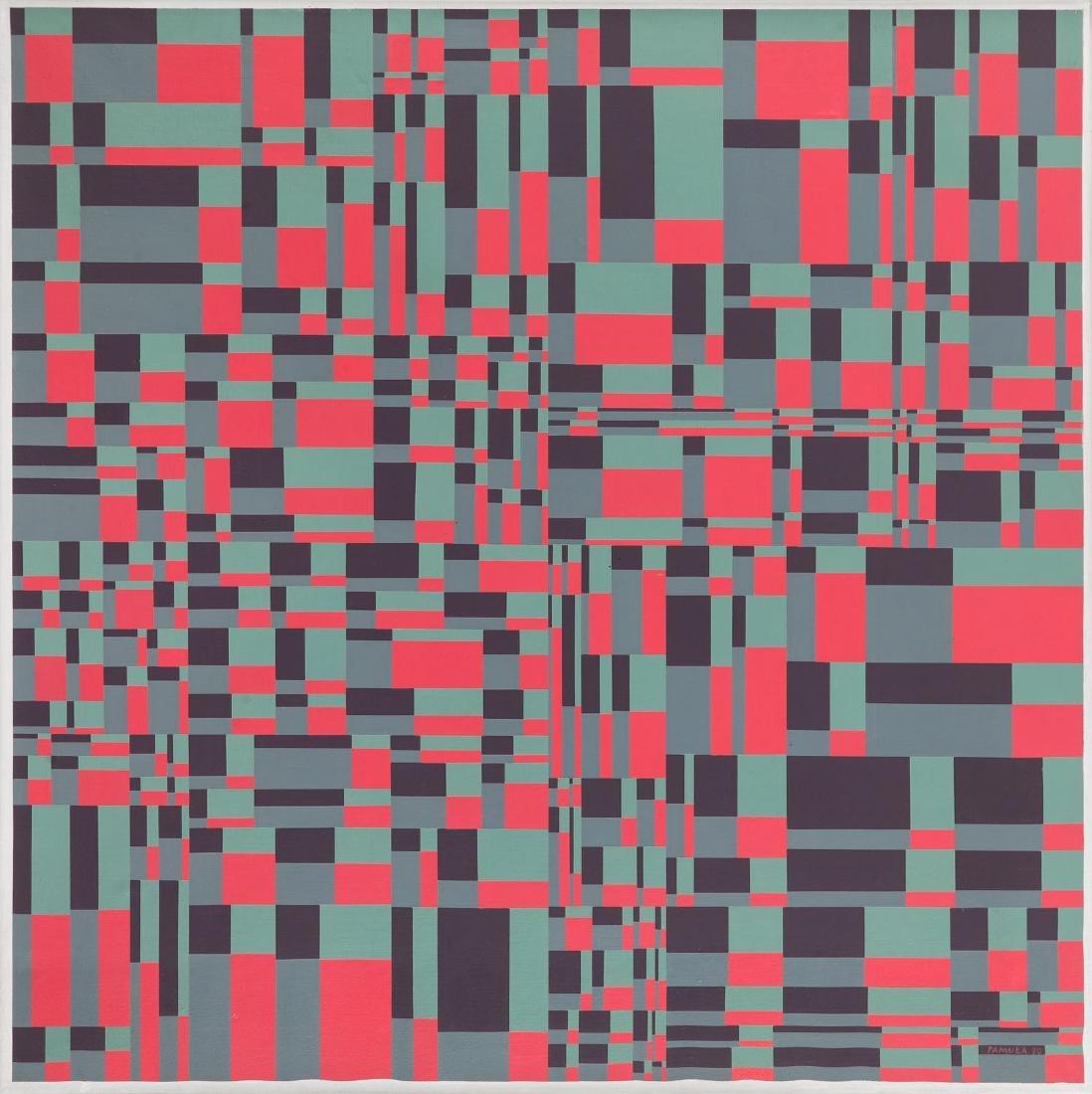 "Jan Pamula (b. 1944) ""Computer Series I 1990 (3)"", 1990"