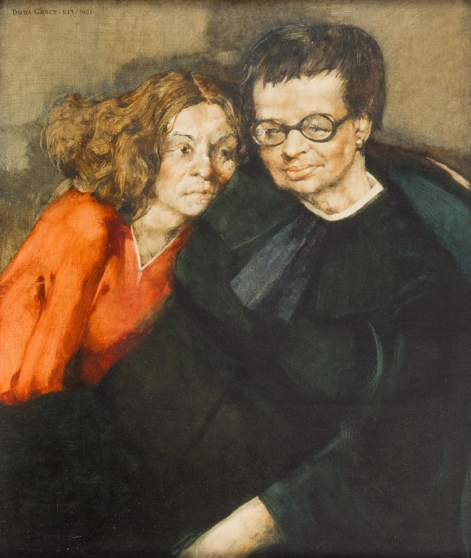"""Jerzy Duda-Gracz (1941 - 2004) """"Double Portrait"""", 1981"""
