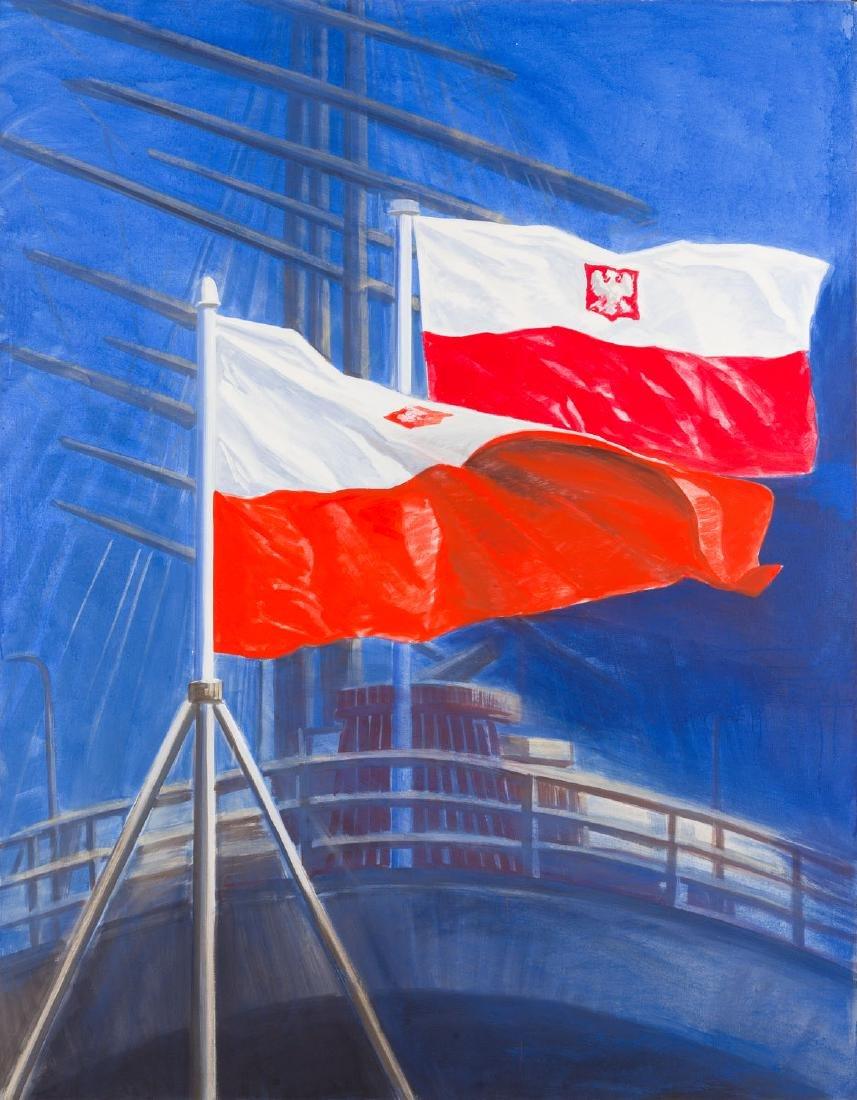 """Jaroslaw Modzelewski (b. 1955) """"Flags"""", 2009"""