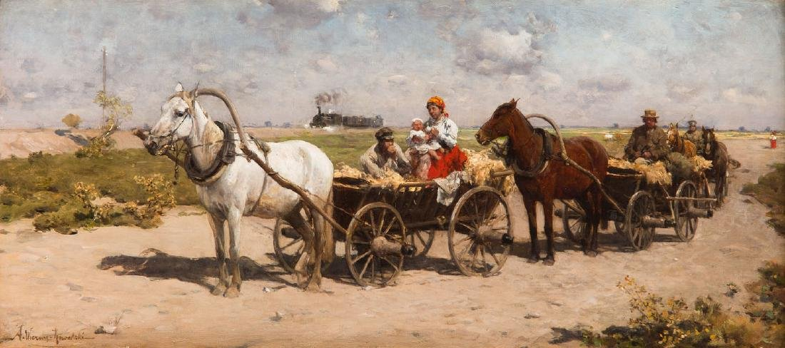 Alfred Wierusz-Kowalski (1849 - 1915) On the Way to the