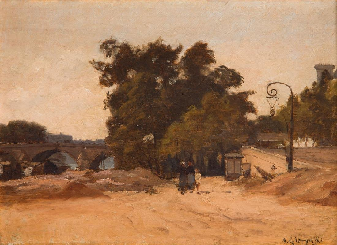 Aleksander Gierymski (1850 - 1901) Pont Royal in Paris,