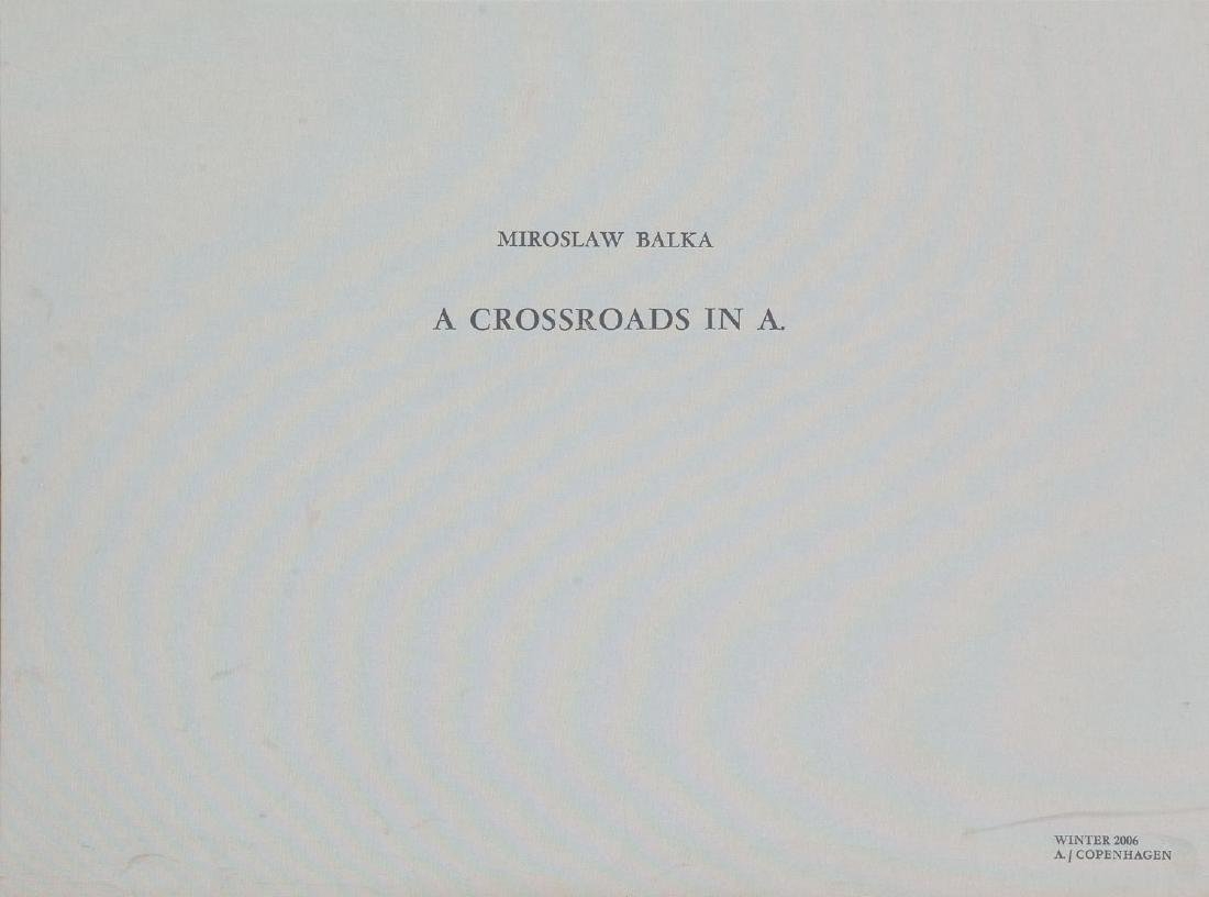 "Miroslaw Balka (b. 1958) Set of four works: ""Crossroads - 12"