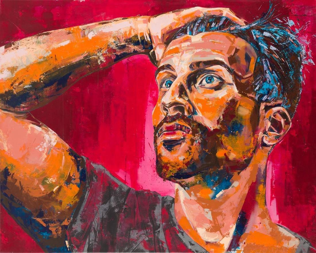 Bastien Ducourtioux (b. 1987) Pink Man, 2017