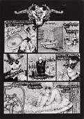 "Aleksandra Spanowicz (b. 1966)""Wampir"", comic splash,"