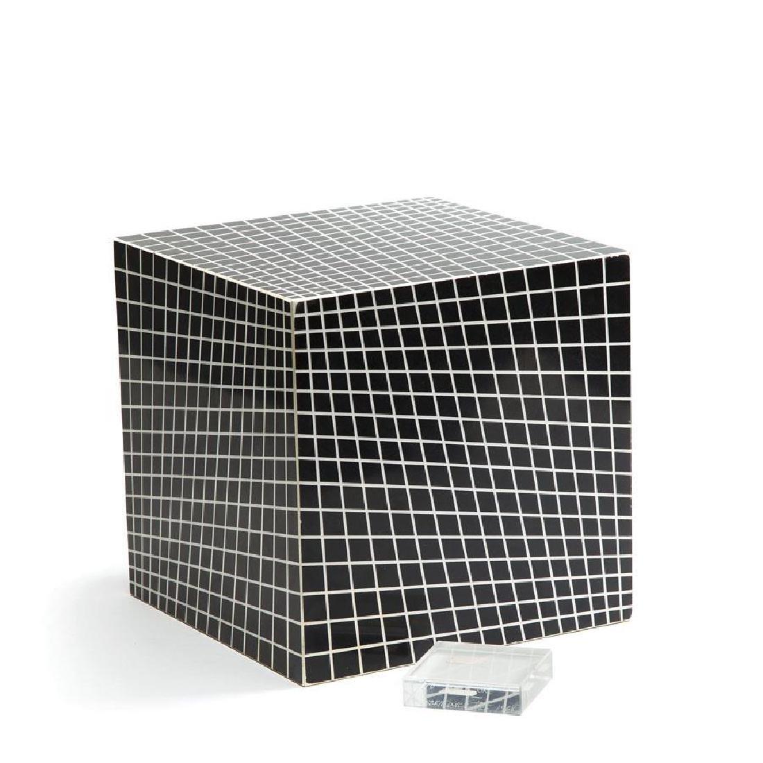 Richard Anuszkiewicz (b. 1930) Cube, 1968
