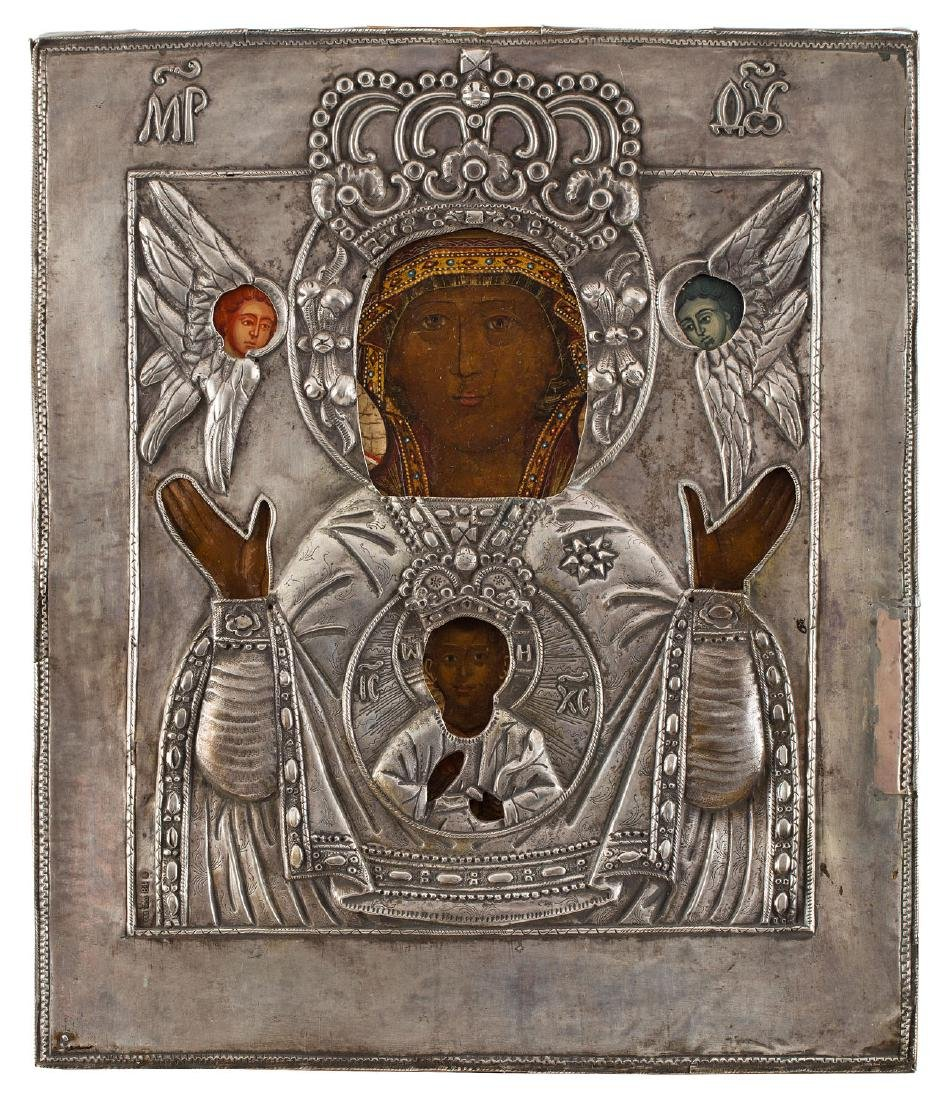 The Mother of God of the Sign (Znamenie), Icon, 1870
