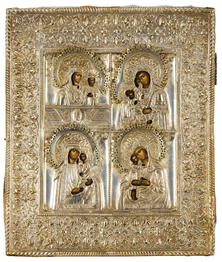 The icon with Mothers of God, Late 19th Century