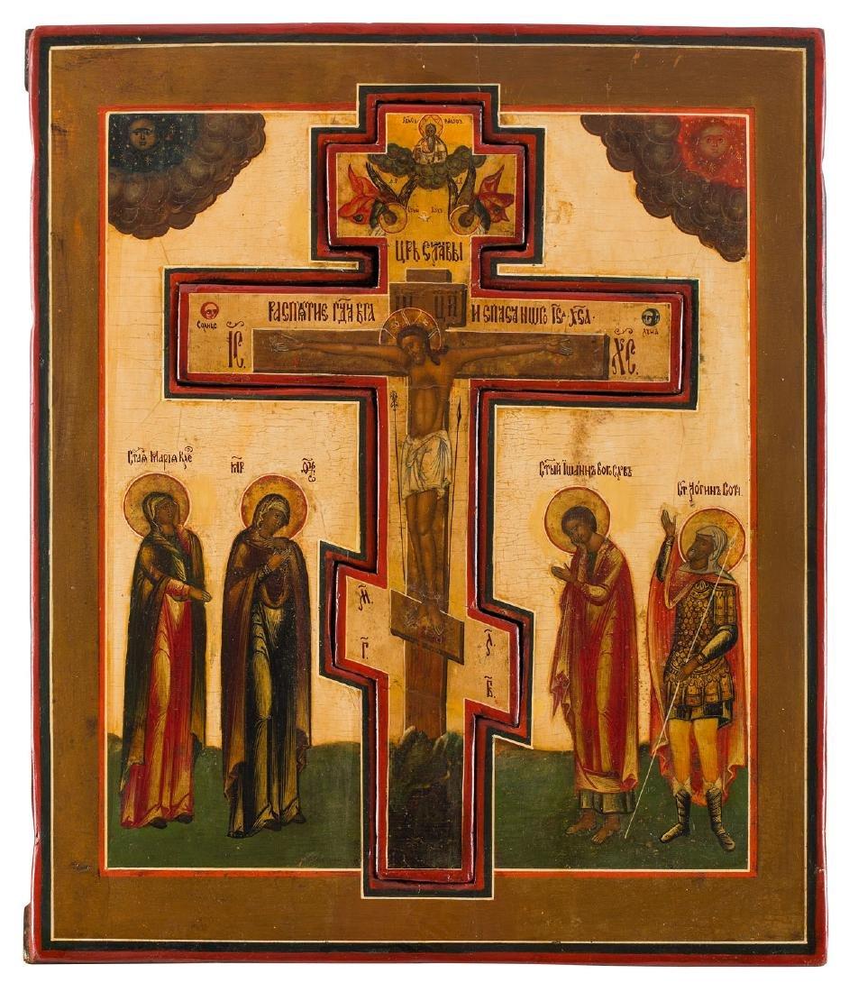 Crucifixion, Icon, circa 1850