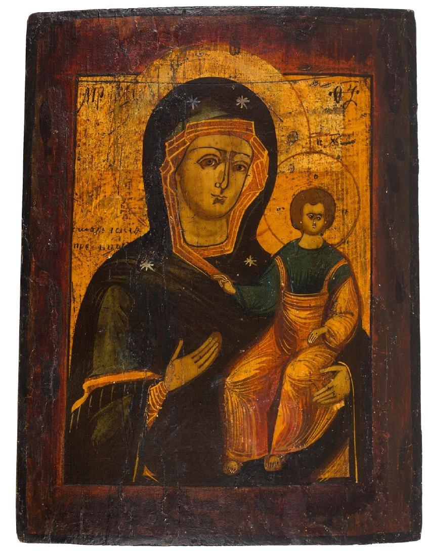 The Virgin Hodegetria, Icon, First half 19th Century