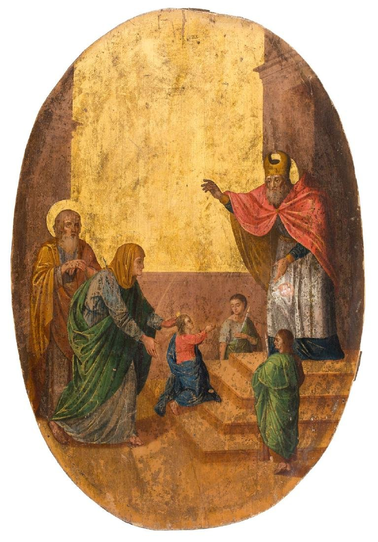 The Entry of the Virgin into the Temple, Icon, First