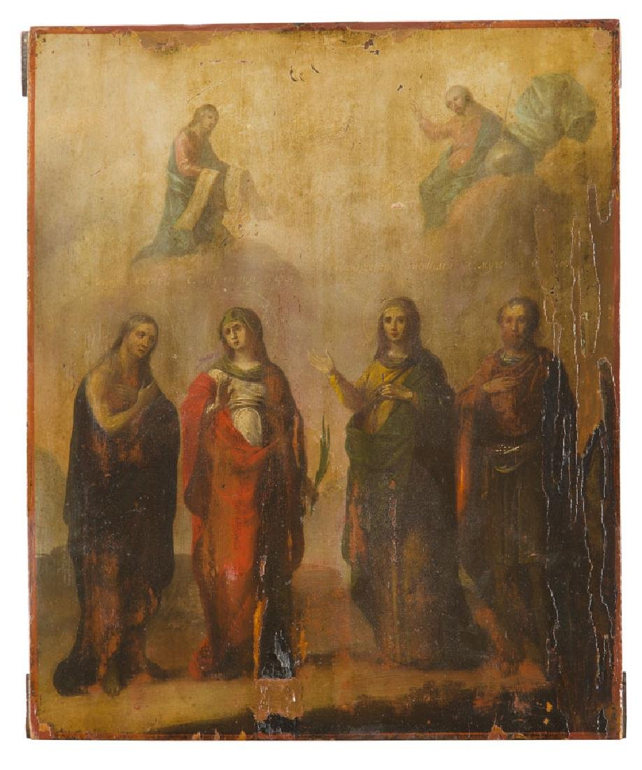 Icon with four Saints, 19th/20th Century