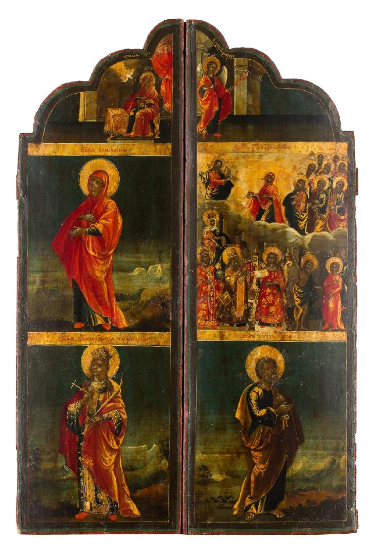 Two wings of the triptych, Icon, 18th/19th Century