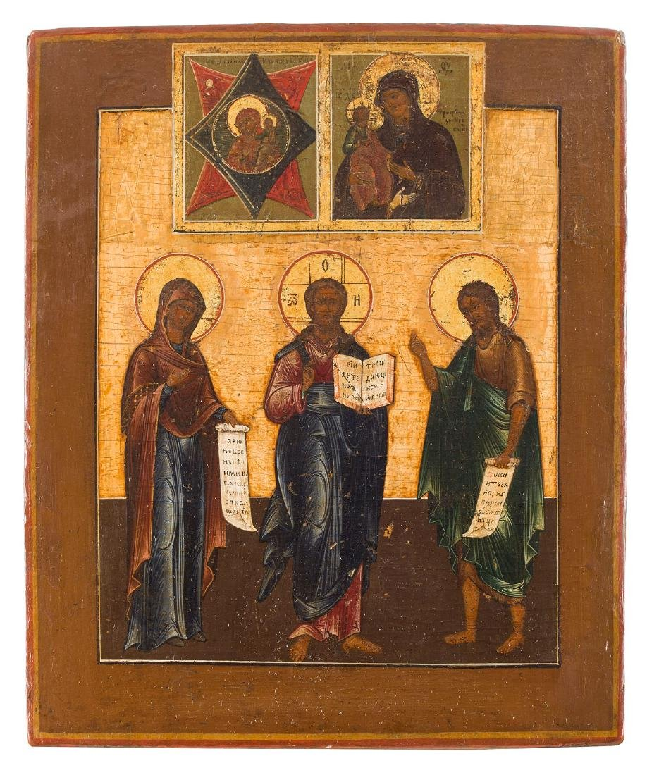 A Deesis, Icon, Early 19th Century