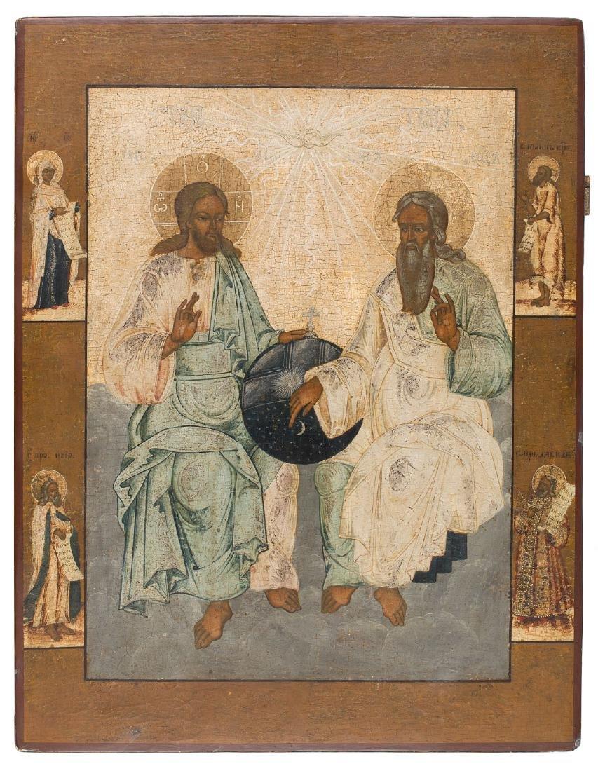 The New Testament Trinity, Icon, 17th/18th Century