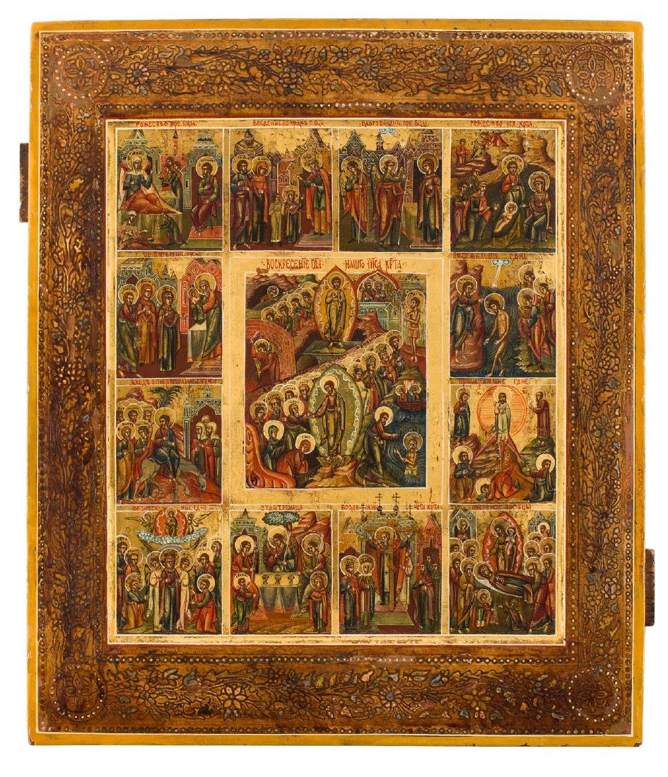The Resurrection Of Christ and 12 Calendar Feasts