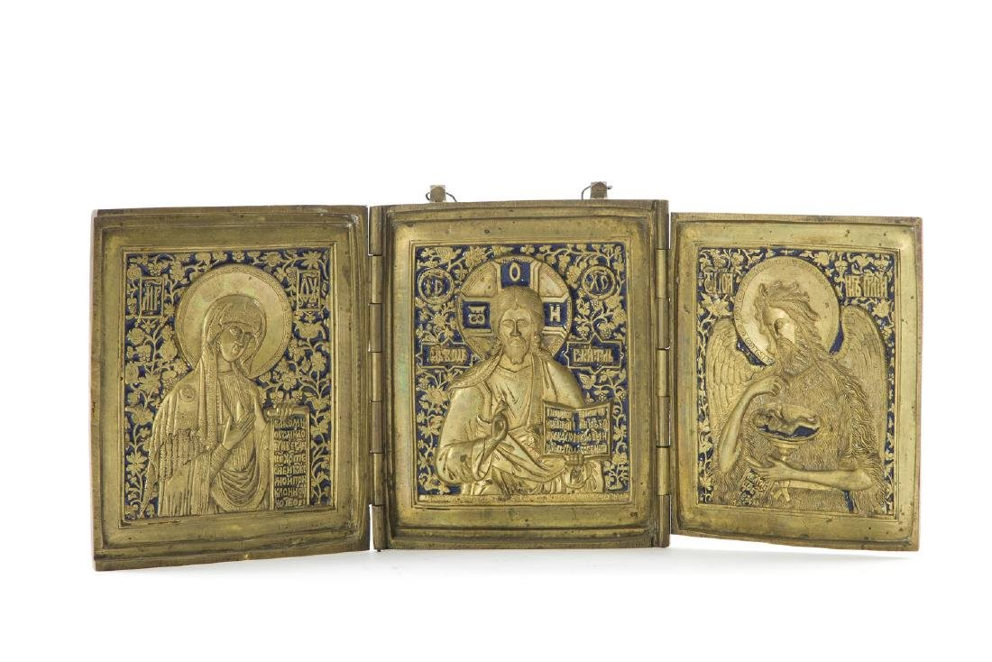 A Deesis, Icon, Late 19th Century