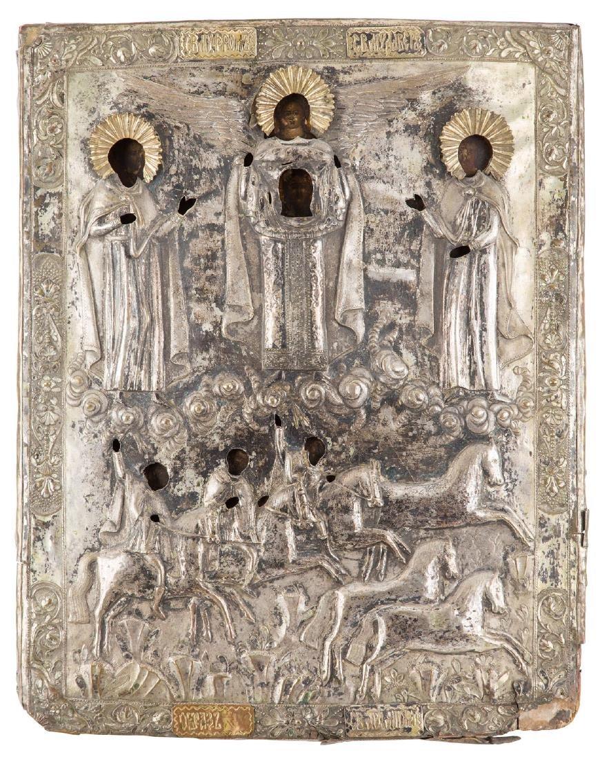Saints Flor and Laurel with Archangel Michael, Icon,
