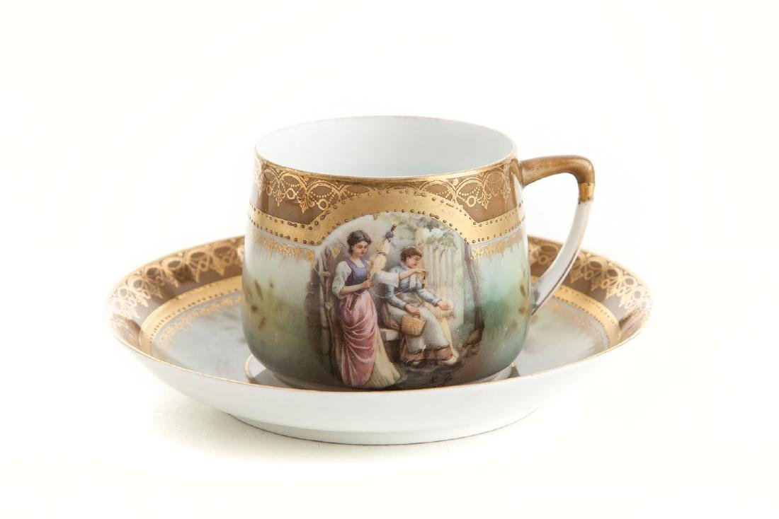 Cup and saucer, 1870s/90s