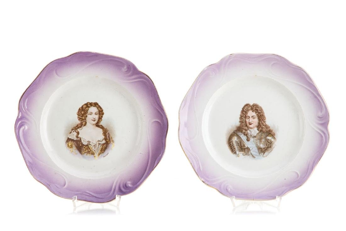 A pair of plates, 19th/20th Century