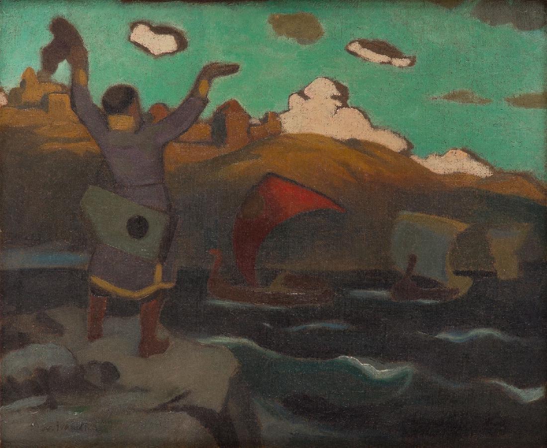 Nikolai V., Ivanov, (1885 - 1931), Greeting the boat,